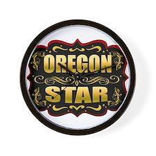 Oregon Star Gold Badge Seal Wall Clock
