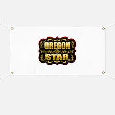 Oregon Star Gold Badge Seal Banner