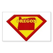 Super Star Oregon Rectangle Decal