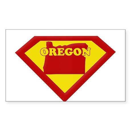Super Star Oregon Rectangle Sticker