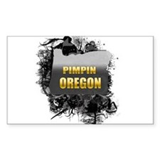 Pimpin' Oregon Rectangle Decal