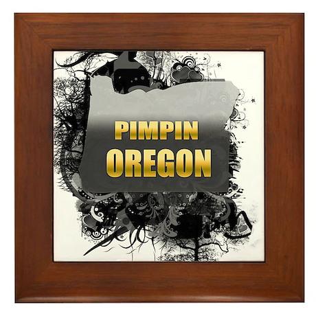 Pimpin' Oregon Framed Tile