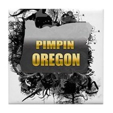 Pimpin' Oregon Tile Coaster