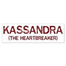 Kassandra the heartbreaker Bumper Car Sticker