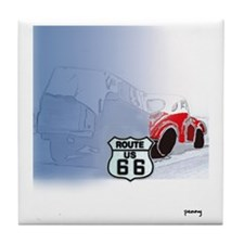 Packin it up on Route 66 Tile Coaster