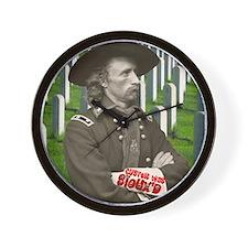 Custer was Siouxd Wall Clock
