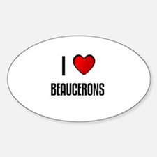 I LOVE BEAUCERONS Oval Decal