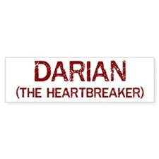 Darian the heartbreaker Bumper Bumper Sticker
