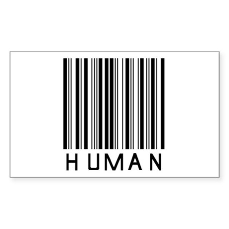 Only Human Rectangle Sticker