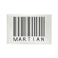 Martian Barcode Rectangle Magnet