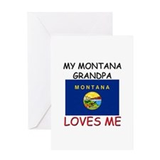 My Montana Grandpa Loves Me Greeting Card