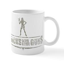 """Jackie Brown """"Chicks Love Gun Mug"""