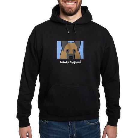 Anime German Shepherd Hoodie (dark)