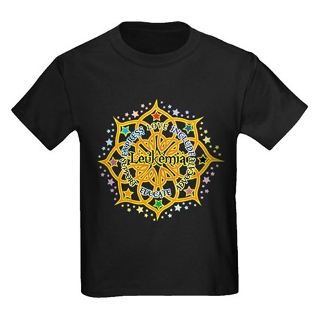 Leukemia Lotus Kids Dark T-Shirt