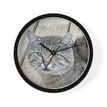Light Tabby Cat Wall Clock