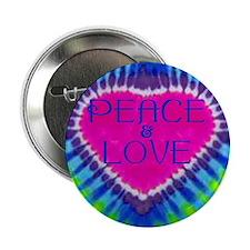 "Peace & Love 2.25"" Button"