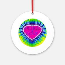 Peace & Love Ornament (Round)