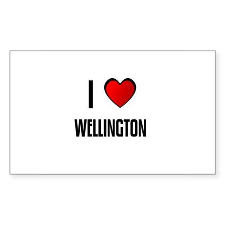 I LOVE WELLINGTON Rectangle Sticker