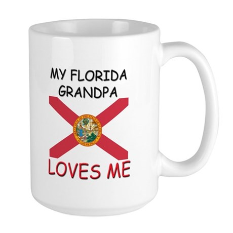 My Florida Grandpa Loves Me Large Mug