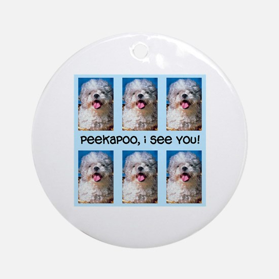 Peekapoo ICU Ornament (Round)