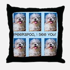 Peekapoo ICU Throw Pillow