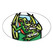 Red Bellied Frog Oval Decal