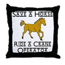 Crane Operator Throw Pillow