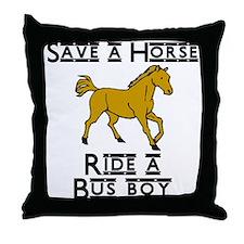 Bus Boy Throw Pillow