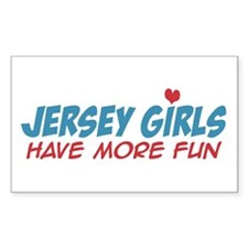 Jersey Girls Have More Fun Rectangle Decal