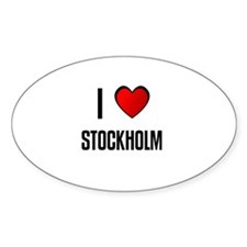 I LOVE STOCKHOLM Oval Decal