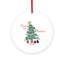 Brenda's 1st Christmas Ornament (Round)