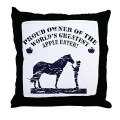 World's Greatest Apple Eater Throw Pillow