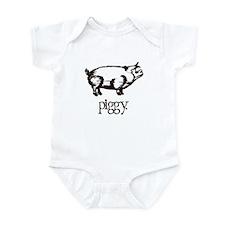 Brown Piggy Infant Bodysuit