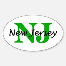 NEW JERSEY- NJ Oval Decal