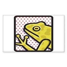 Frog And Red Dots Rectangle Decal
