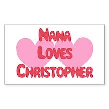 Nana Loves Christopher Rectangle Decal