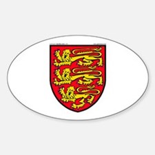 England: Heraldic Oval Decal