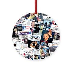 International Obama Inauguration Ornament (Round)