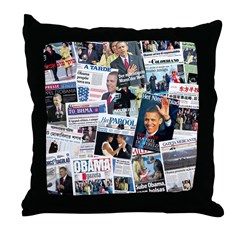 International Obama Inauguration Throw Pillow