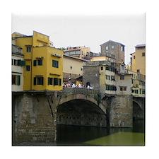 Cute Ponte vecchio Tile Coaster