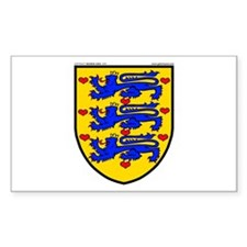 Denmark: Heraldic Rectangle Decal