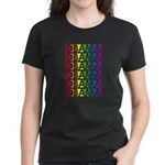 Stacked Obama Rainbow Pop Women's Dark T-Shirt