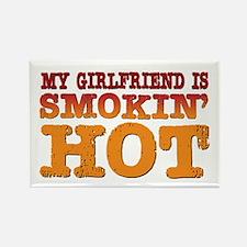 My Girlfriend is Smokin Hot Rectangle Magnet