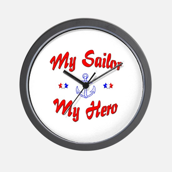 My Sailor My Hero Wall Clock