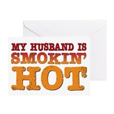 My Husband is Smokin Hot Greeting Card