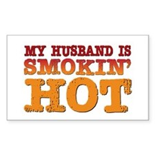 My Husband is Smokin Hot Rectangle Decal