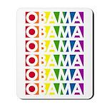Stacked Obama Rainbow Pop Mousepad