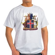 Iceland Coat Of Arms Ash Grey T-Shirt