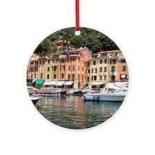 Cute Portofino Ornament (Round)