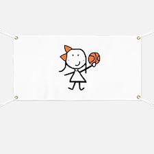 Girl & Basketball Banner